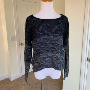Quinn blue two tone knit sweater